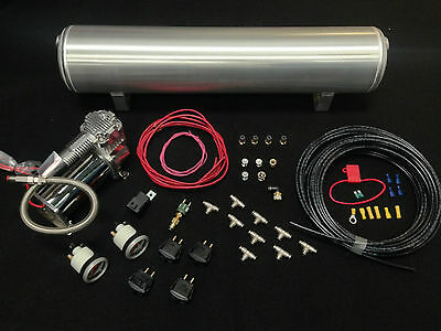 4 Way Manual Paddle Valve Management Kit For Air Ride Suspension Air Lift Viair