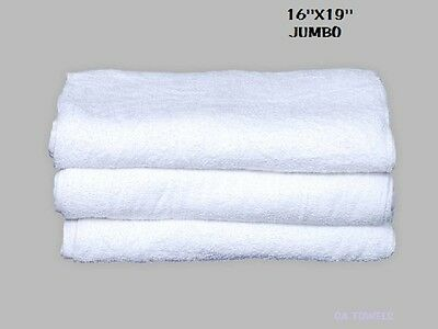 60 Terry Cloth Jumbo Cotton Cleaning Janitorial Towels Shop Bar Rags 16X19