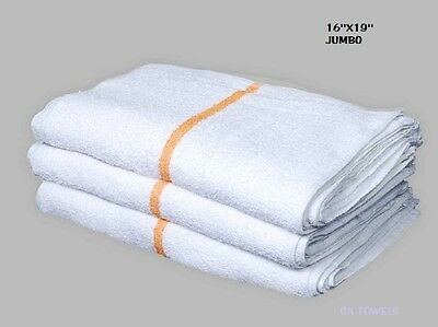 60 terry cloth jumbo gold stripe cleaning janitorial towels shop bar rags 16x19