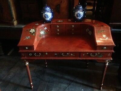 Vintage Antique Carlton House Chinoiserie Reception Desk French Louis XVI