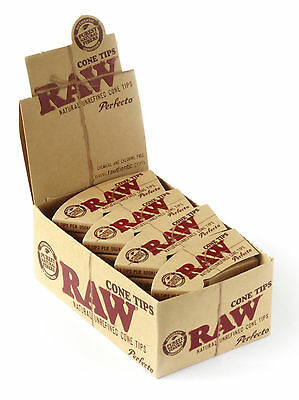 1 box - RAW Natural Rolling Cone Tips - 24 booklets