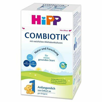 2 Boxes HiPP Organic Combiotic First Infant Milk - Stage 1 UK Version - 800g