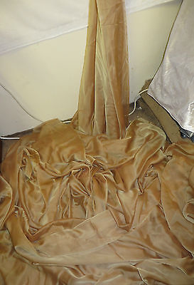 "1M  Cationic Chiffon two tone antiqe gold  SOFT  DRESS CHIFFON FABRIC 58"" WIDE"
