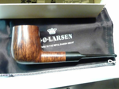 70'S  MINT W.O .LARSEN  SELECT  HAND MADE TOP VINTAGE PIPE WITH  BOX & BAG 9mm/F