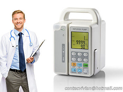 """CONTEC Small 2.7""""LCD INFUSION PUMP,Alarm,Battery,IV Fluid Flow Rate Volume Limit"""