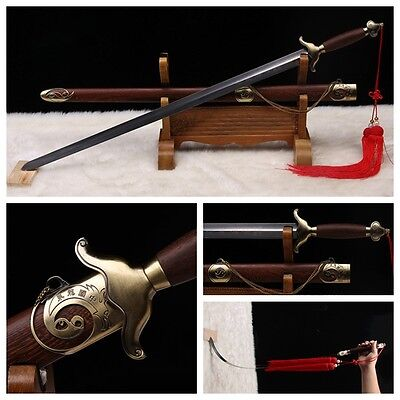 "HAND FORGE CHINESE SWORD ""Tai chi JIAN ""(劍) STAINLESS STEEL GOOD ELASTICITY #325"