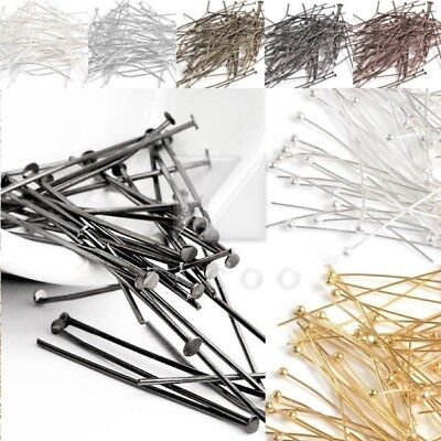 30g Fuctional Iron Silver Head Pins Jewelry Findings Silver Plated Gold 17 Sizes