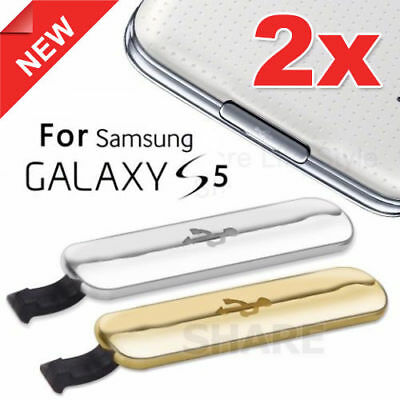 2x USB Charging Port Waterproof Plug Flap for Samsung Galaxy S5 Charger Cover 4G