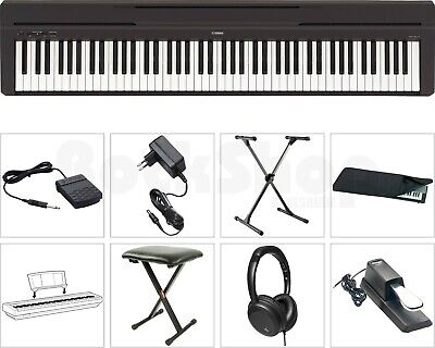 Yamaha P 45 B Digital E-Piano Klavier SUPER SET mit X-Stativ + Sitz Bank Hocker