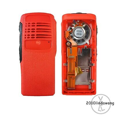 Red Case Housing with ribbon type cable mic and speaker for motorola HT750 radio