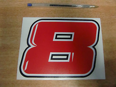 GUY MARTIN race number 8 decal/sticker- 150mm x 110mm  // 2015 BMW Tyco