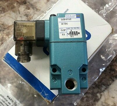 *new*   Mac    225B-611Jc    Pneumatic Solenoid Valve    24Vdc  Coil