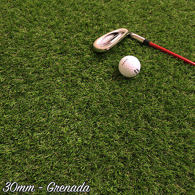 30MM Thick- Quality Artificial Grass, Astro Turf - Grenada - 2-4M Wide