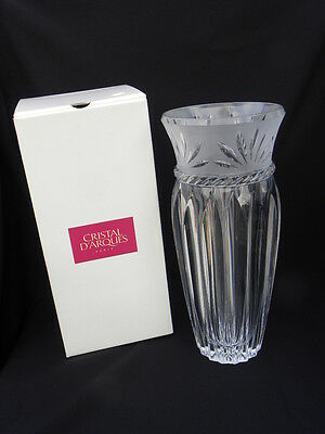 "Cristal D'Arques 24% Lead Crystal Carthage Vase, 11 ¾"" w/Orig. Box, Very Heavy"
