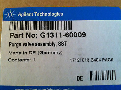 Agilent G1311*60009  Purge valve assembly,  New in Box
