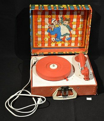 ThriftCHI ~ Vintage Raggedy Ann & Andy Electric Record Player
