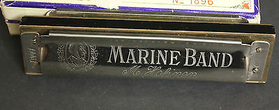 Vintage M. Hohner Marine Band Harmonica Key of C 1972 Made in Germany