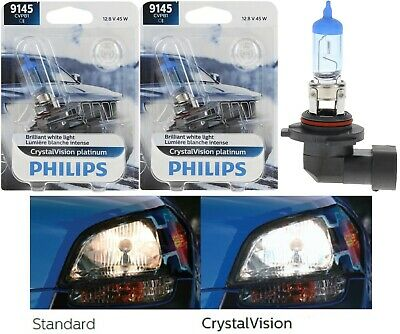 Philips Crystal Vision Ultra H10 9145 45W Fog Light Two Bulbs Replace Upgrade OE