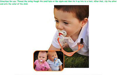 Baby Kids Boy Girl Dummy Pacifier Soother Nipple Leash Strap Chain Clip Holders