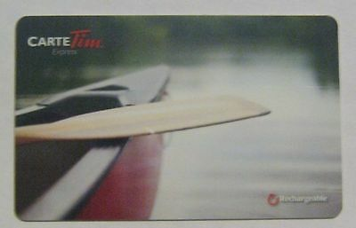 COLLECTABLE TIM HORTONS CANOE GIFT CARD ..NO VALUE..FRENCH