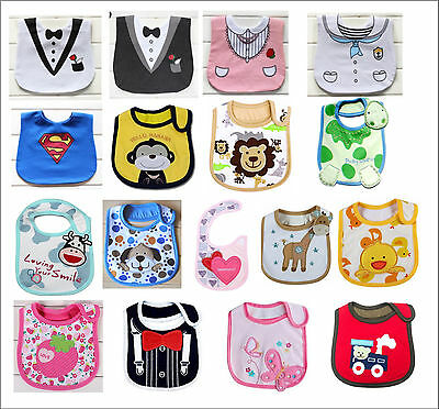 Brand New Baby Infant Kids Novelty Cute Boys / Girls Dribble Feeding Bib Bibs