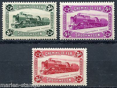 Belgium  Railroad Stamps Sc#q181/83  Cob#cf175/77  Mint Never  Hinged