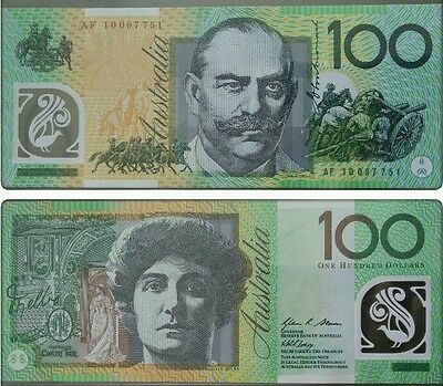 Australia P-61 2010 Polymer 100 Dollar Monash Theater Note Currency UNC