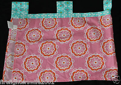 Sumersault Multi Birdie Patch Window Valance 44x15 pink blue tab top nwop