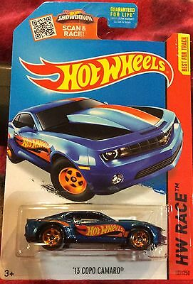 2015 HOT WHEELS HW RACE '13 COPO CAMARO BLUE 127/250