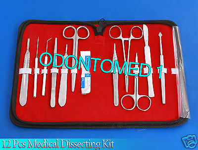 12 Pcs Medical Dissecting Kit Surgical Anatomy Instruments SET DS-817