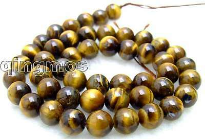 "SALE small 8mm Round tiger's-eye gemstone Beads strand-15""-los497 Free shipping"