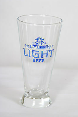 SCHLITZ LIGHT BEER VINTAGE  PILSENER GLASS