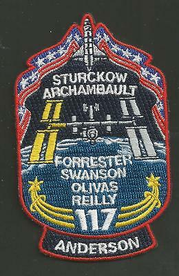 Atlantis  Sts-117  Space  Patch  3 1/2 Inches