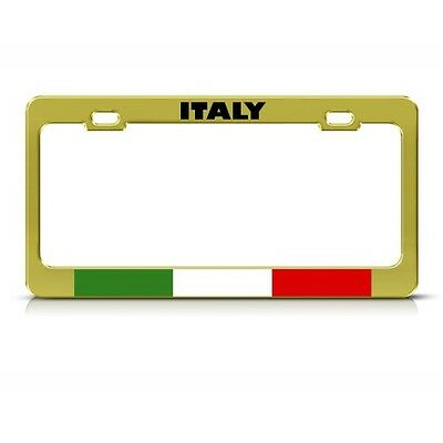 ITALY ITALIAN FLAG COUNTRY Metal License Plate Frame Tag Holder