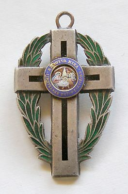 g102 Greece Order of The Orthodox Crusaders of Jerusalem silver enameled cross