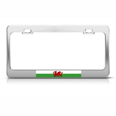 WALES FLAG RED DRAGON WELSH Metal License Plate Frame Tag Holder ...