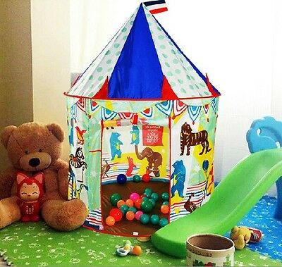Childrens Indoor Play Tent clubhouse -- CIRCUS TENT