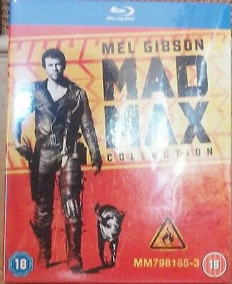MAD MAX TRILOGY Blu-Ray 1-3 The Road Warrior 1 2 3 box set No Shrink Wrap.