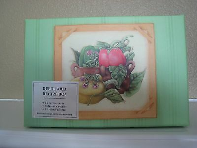 MARJOLEIN BASTIN RECIPE BOX WITH PKG OF CARDS ~ NEW