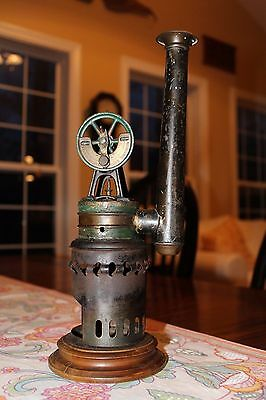 Vintage antique Krauss and Mohr hot air sterling engine like toy steam engine