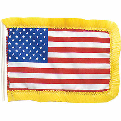 "Mini American Antenna Car Flag  4.5 x 6"" US Small United States of America"