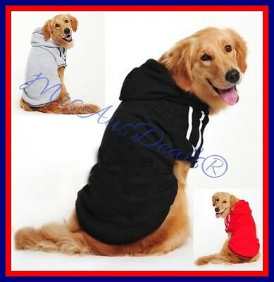 Dog Hoodie Jumper Jacket  for Medium to Large Dogs 7 Sizes Melbourne Seller