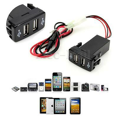 2 USB 12V Voiture Chargeur Allume Cigare Prise Adaptateur Pr TOYOTA iPhone 6
