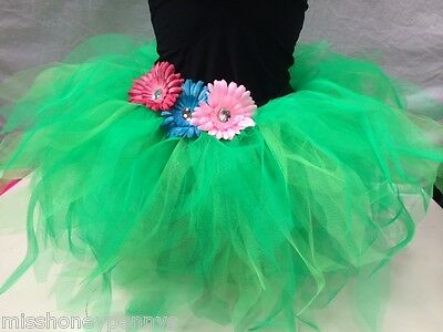Neon Tutu Skirt 80s Fancy Dress Hen Party Fun Run Costume Plus Size Jungle Disco