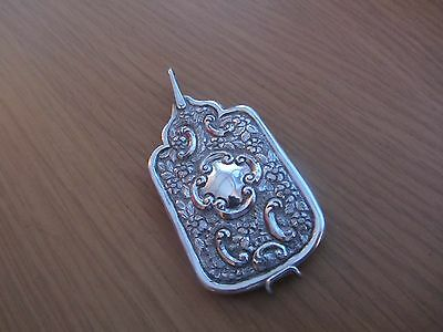 Antique Solid Silver Aide Memoire Chatelaine Dance Card  Morden 1893