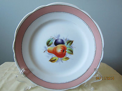 Very Old, Still Beautiful KPM China Plate with Fruit Design and Scalloped Rim