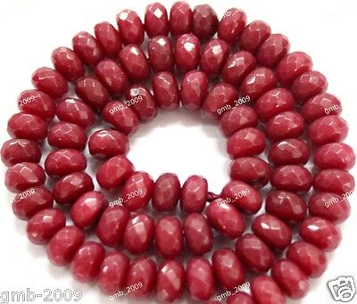 """Beautiful 4mm Faceted red ruby Round Gems Loose Beads 15 /""""AA"""