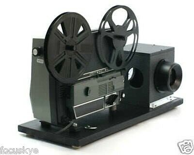 Movie Film Projector, Telecine Video Transfer, Dual 8, Reg.8 and Super 8 Silent