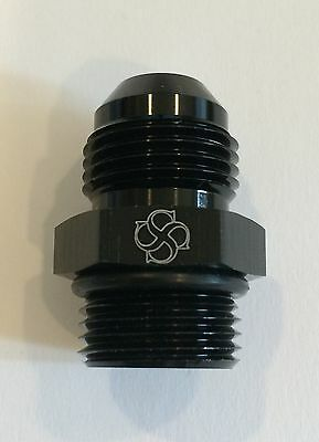 X796 -4AN Flare to -4 ORB O Ring Boss Adapter AN Fitting ORB BLACK
