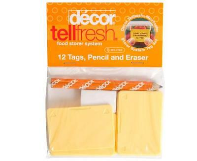 Decor Tellfresh Food Storer System 12 Tags + Pencil & Eraser